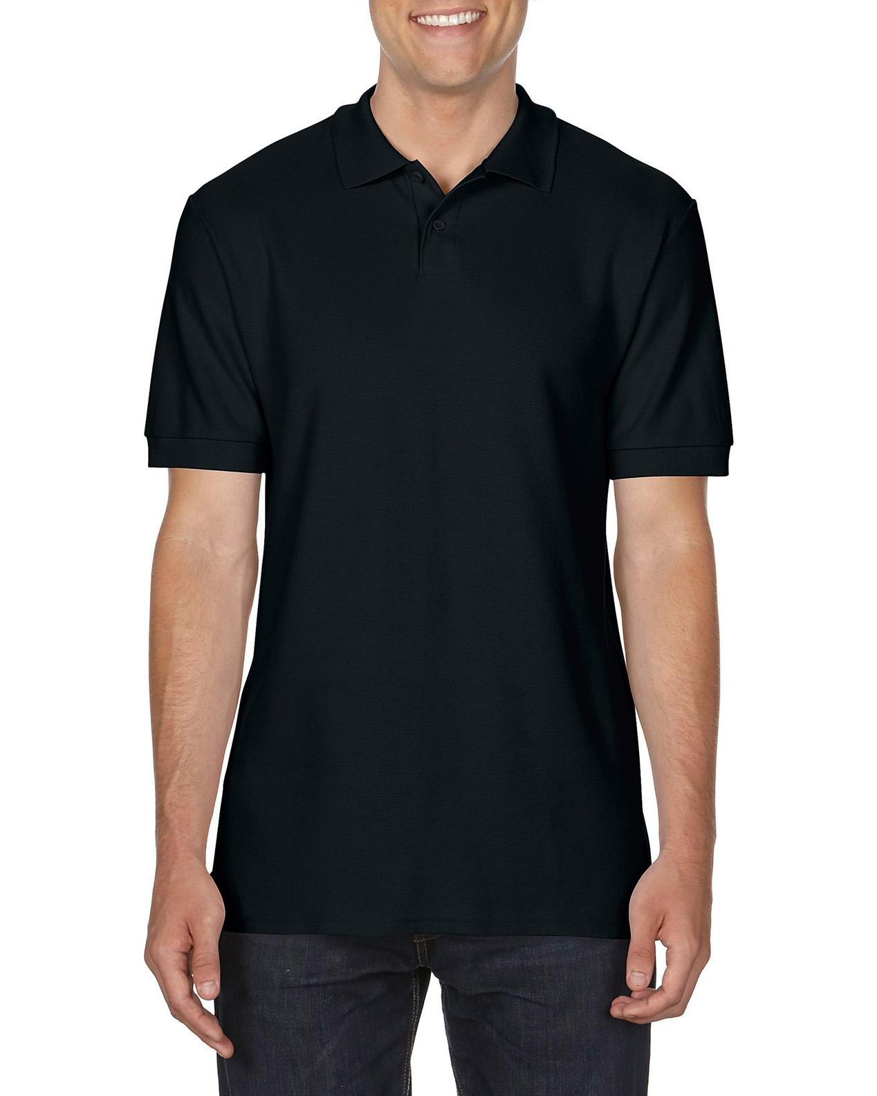 100 cotton Gildan polo shirt black