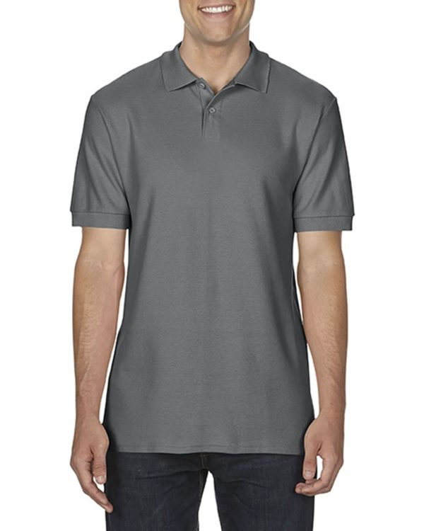 100 cotton Gildan polo shirt charcoal