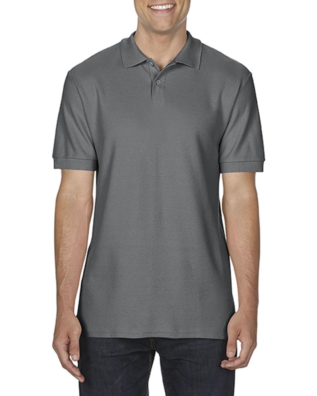 100 cotton Gildan polo shirt charcoal