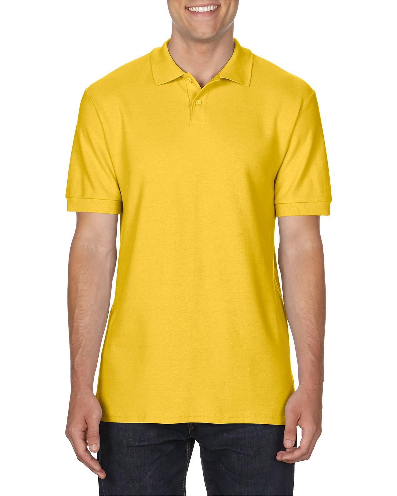 100 cotton Gildan polo shirt daisy yellow
