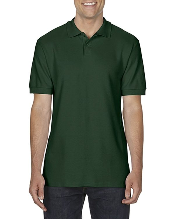 100 cotton Gildan polo shirt forestgreen