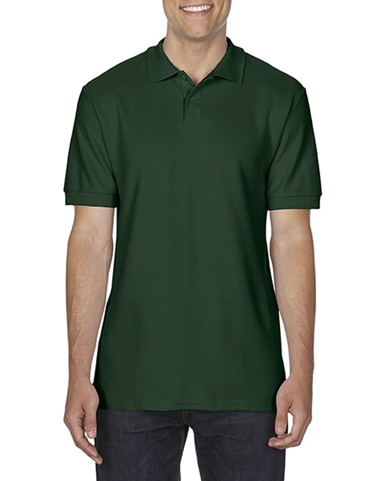 100 cotton Gildan polo shirt forestgreen