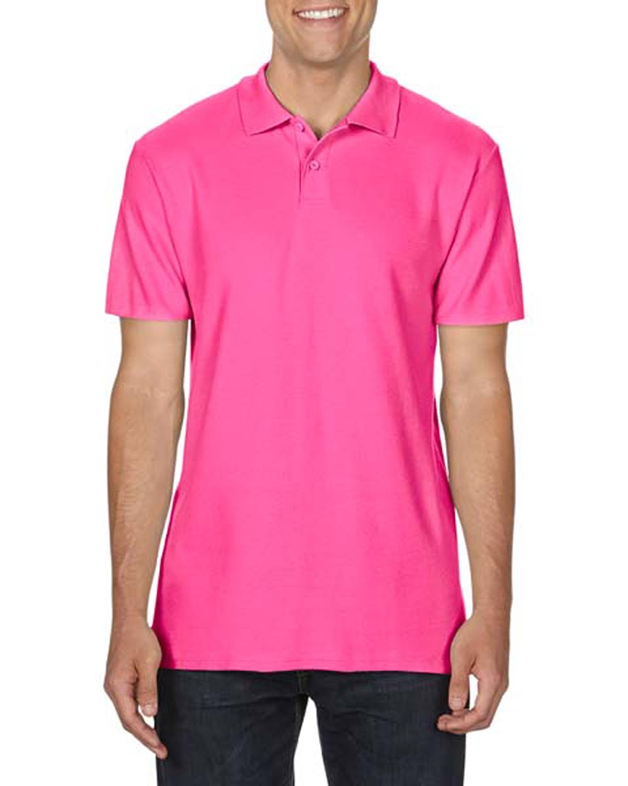 100 cotton Gildan polo shirt heliconia