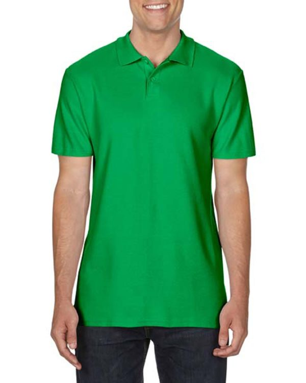 100 cotton Gildan polo shirt irishgreen