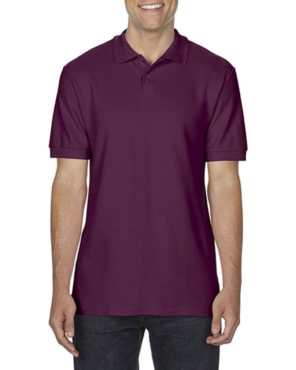 100 cotton Gildan polo shirt maroon