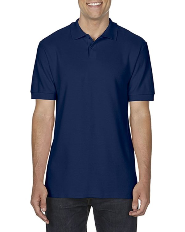 100 cotton Gildan polo shirt navy
