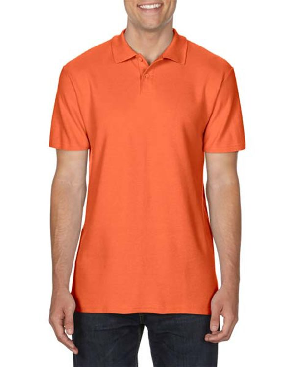 100 cotton Gildan polo shirt orange