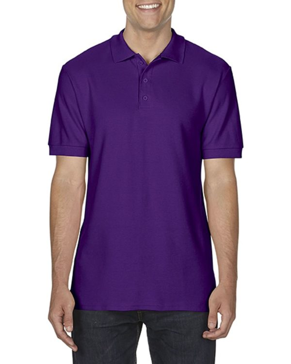 100 cotton Gildan polo shirt purple