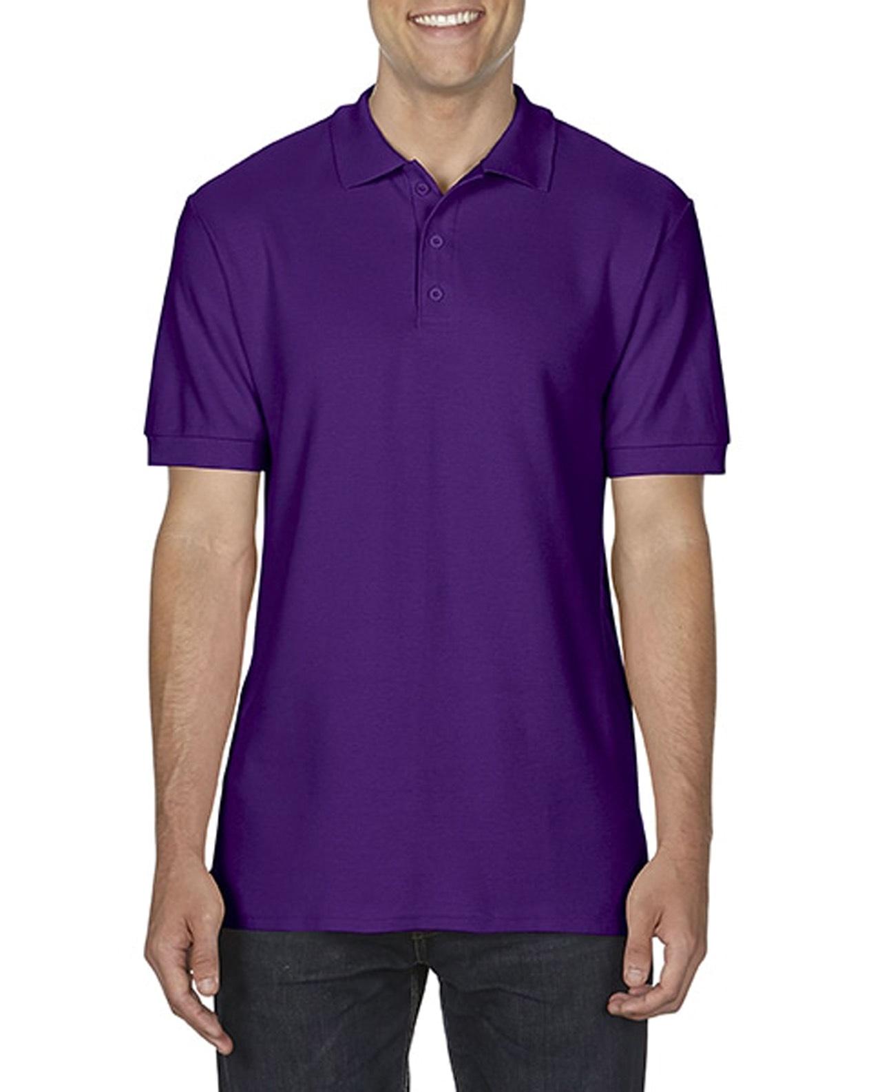 100 cotton Gildan polo shirt purple