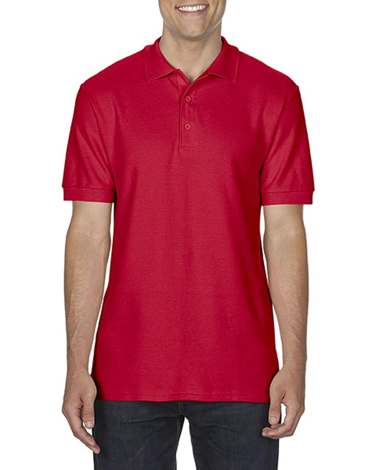 100 cotton Gildan polo shirt red