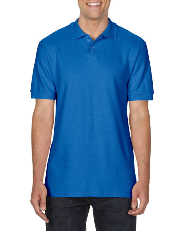 100 cotton Gildan polo shirt royalblue
