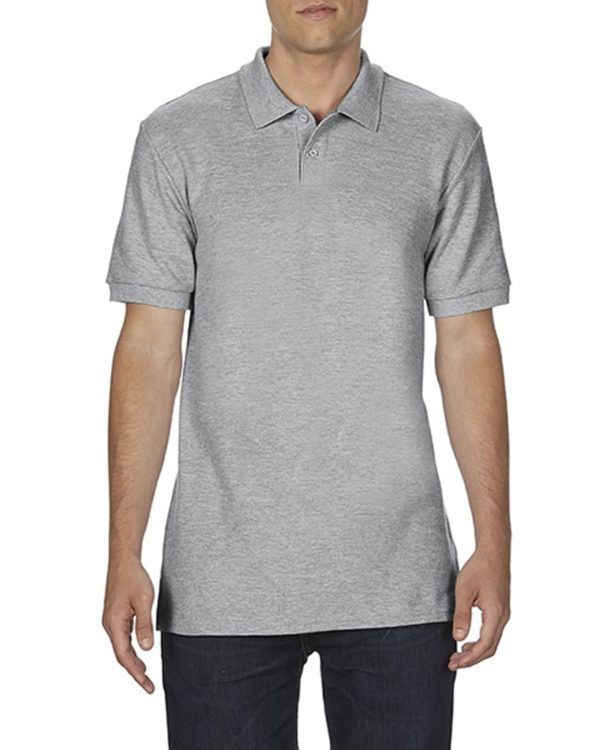 100 cotton Gildan polo shirt rs sport grey