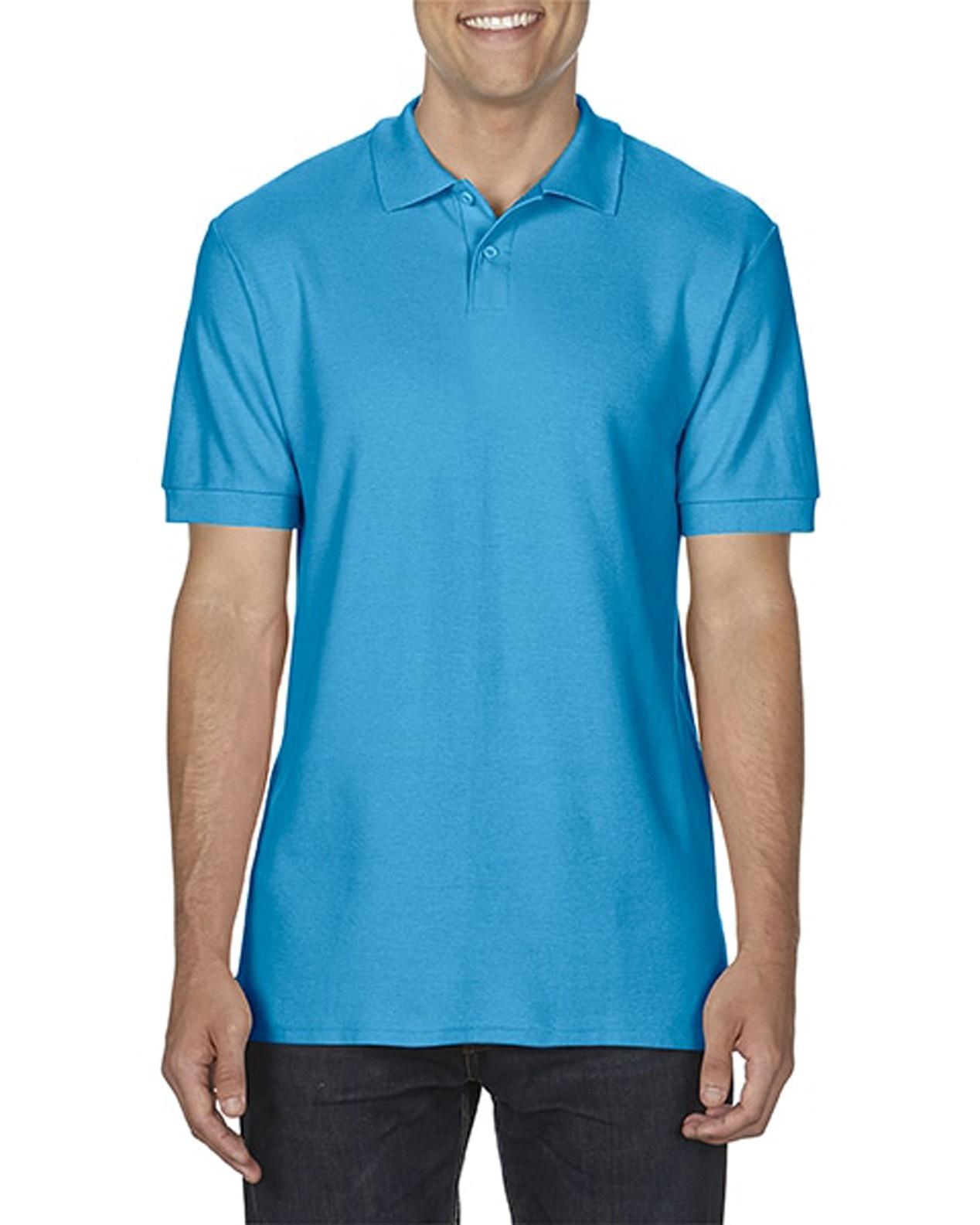 100 cotton Gildan polo shirt sapphire