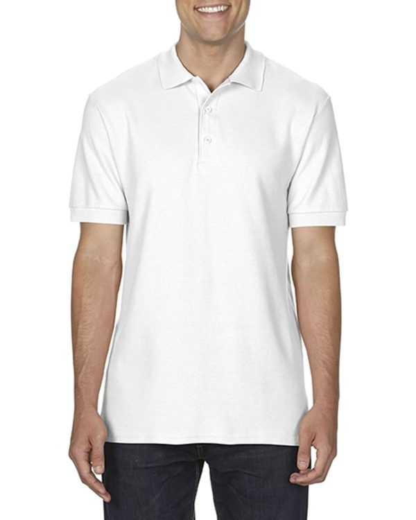 100 cotton Gildan polo shirt white