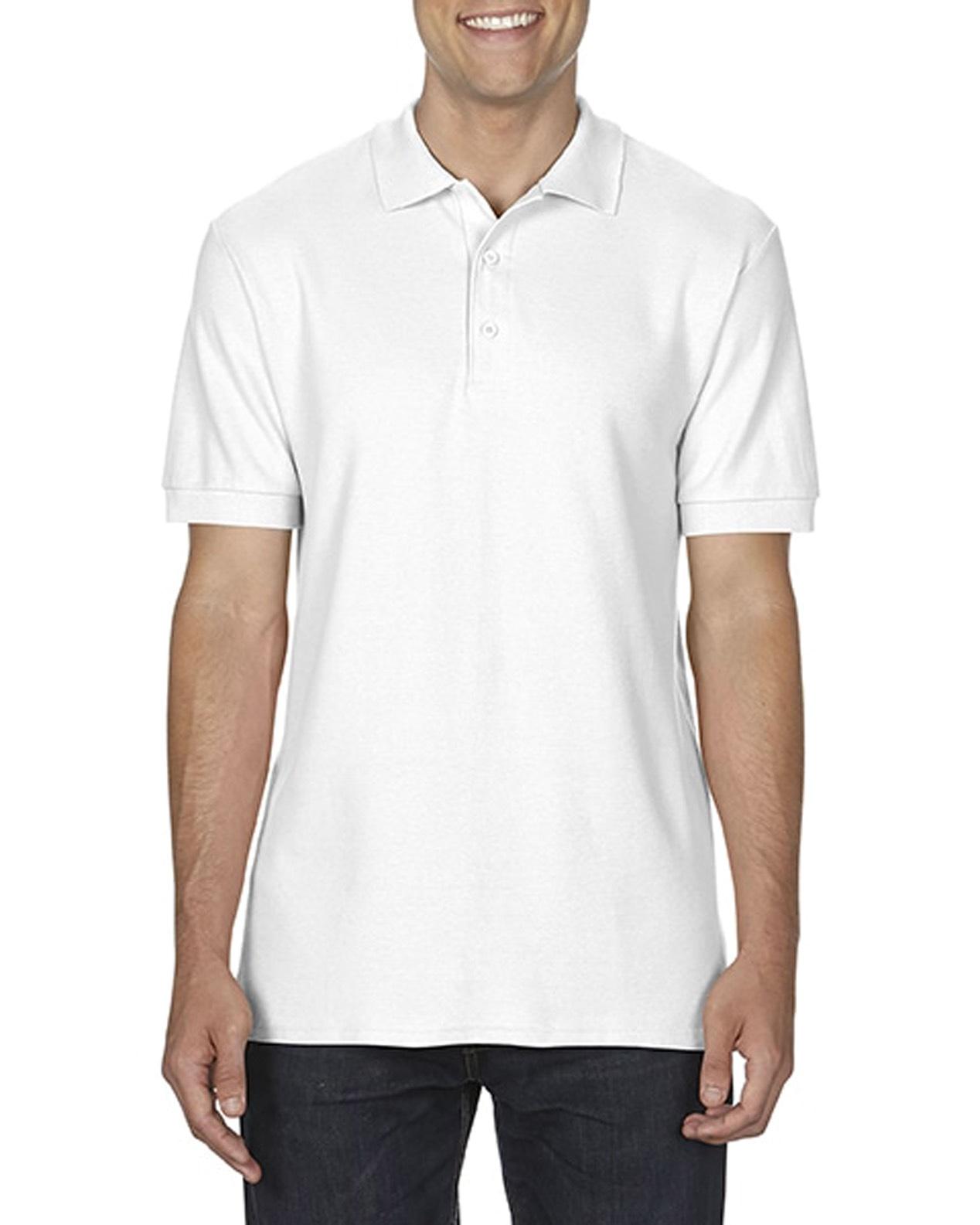 100 cotton Gildan polo shirt white