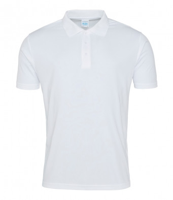 arctic white sports polo