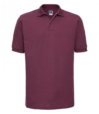 burgundy work polo shirt