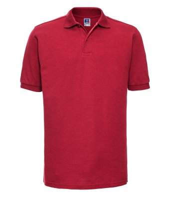 classic red work polo shirt