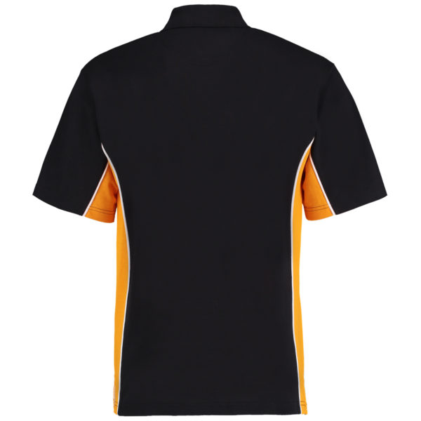 contrast polo black gold bk
