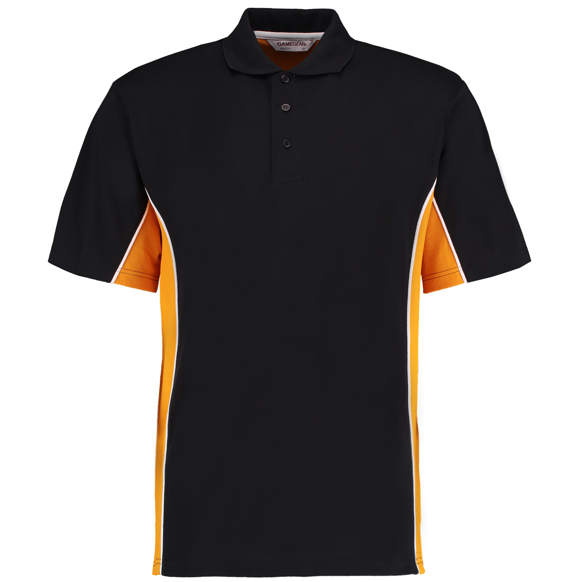 contrast polo black gold
