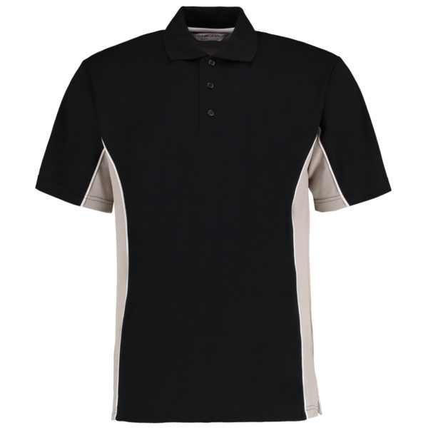 contrast polo black grey