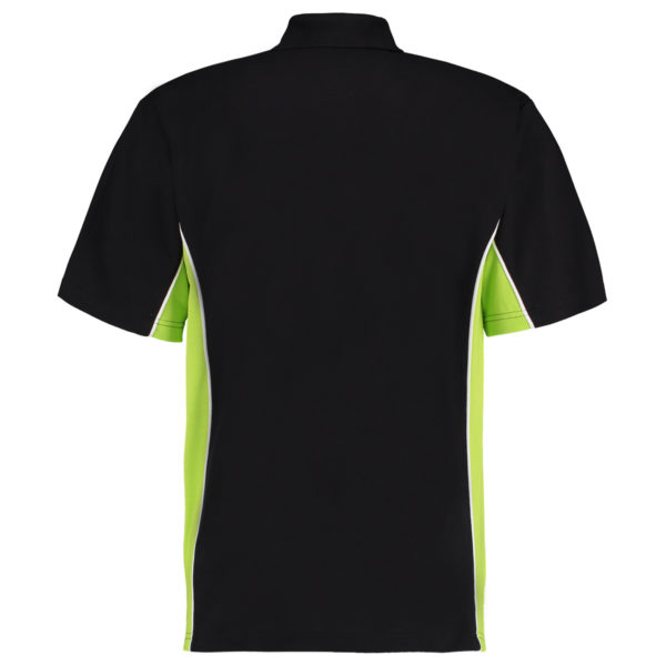 contrast polo black lime bk