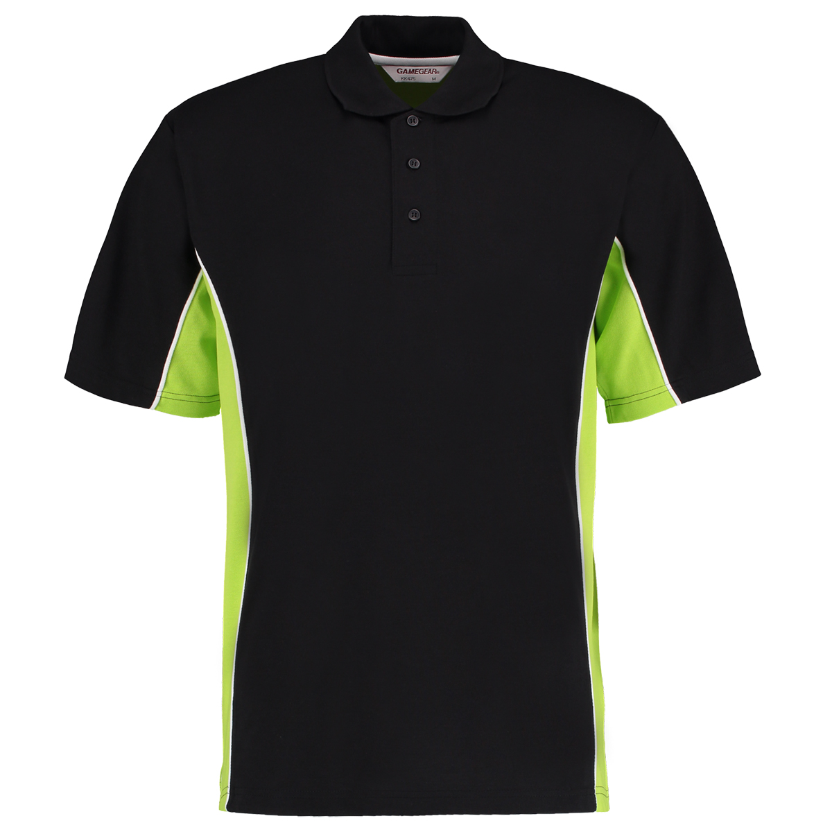 contrast polo black lime
