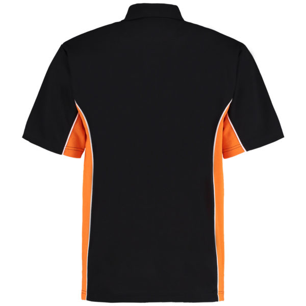 contrast polo black orange bk