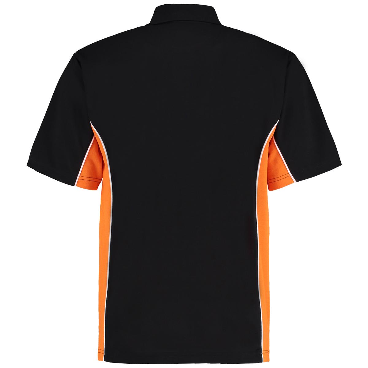 contrast polo black orange bk
