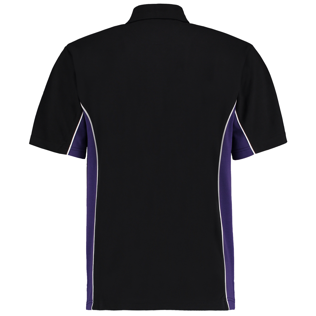 contrast polo black purple bk
