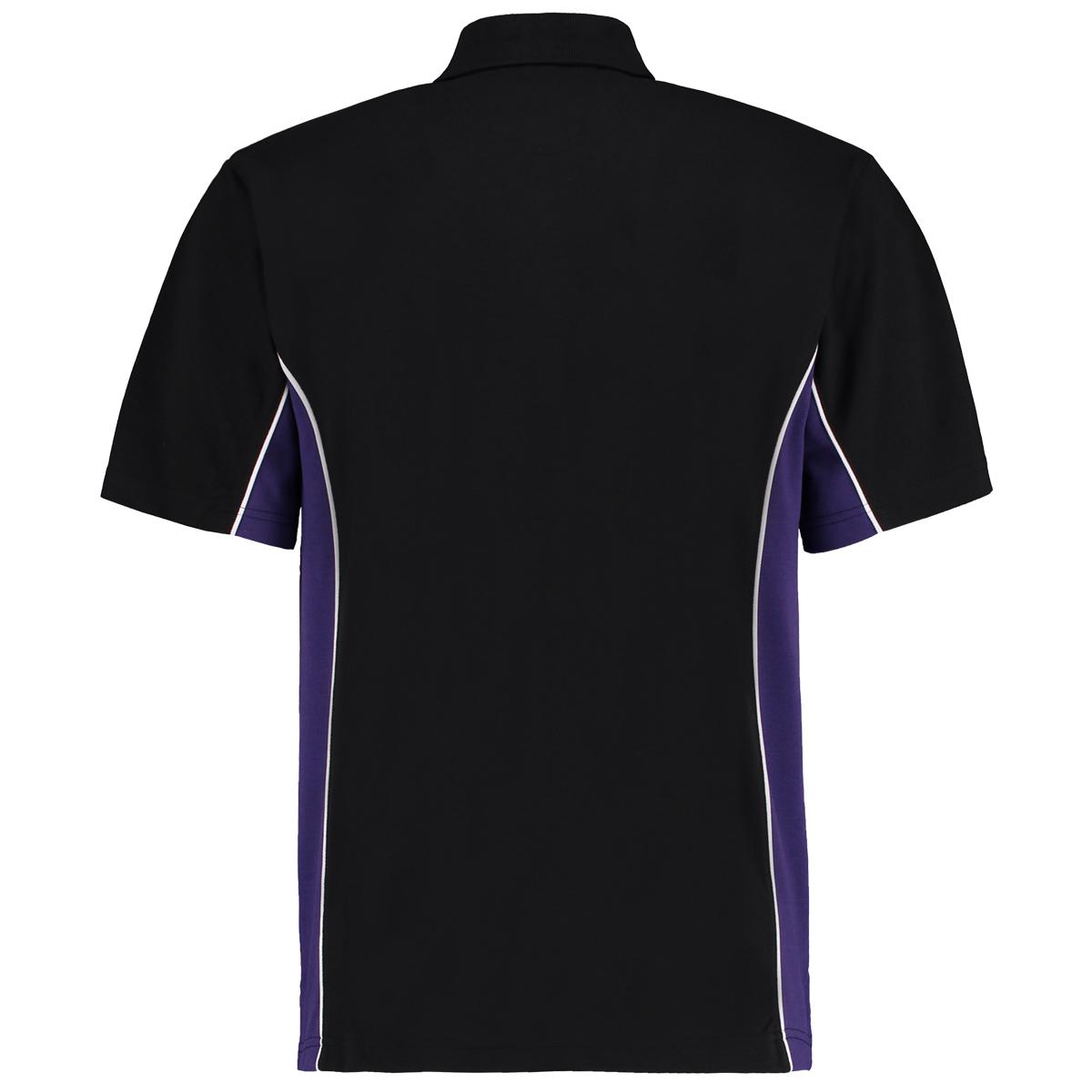 contrast polo black purple bk