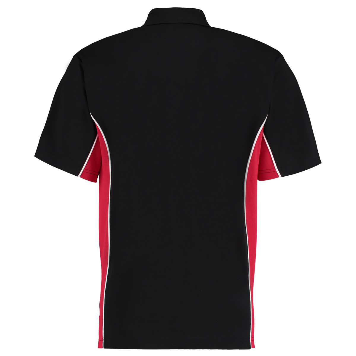 contrast polo black red bk