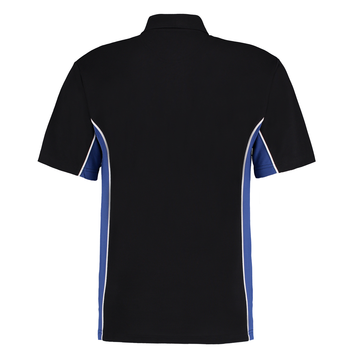 contrast polo black royal blue bk