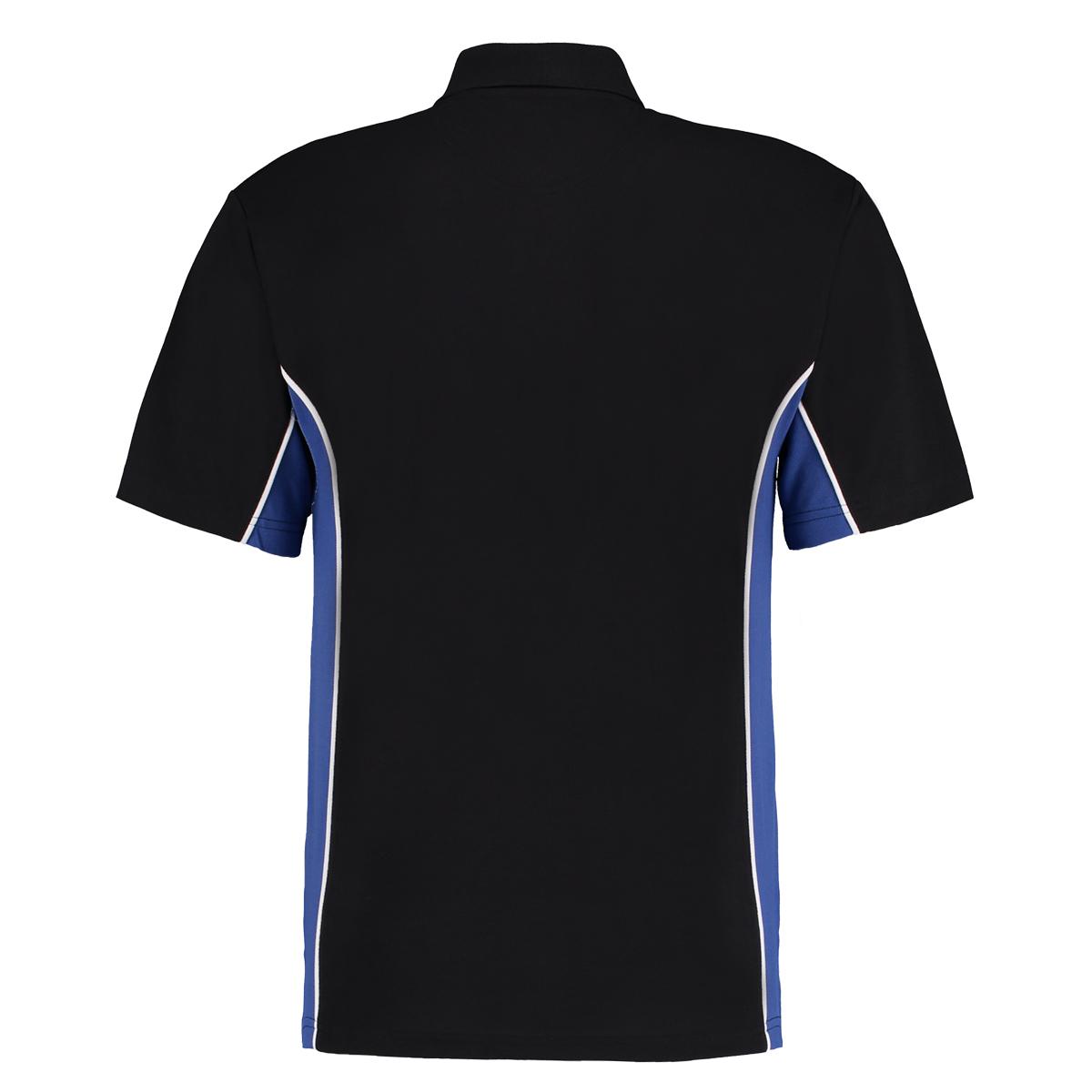 contrast polo black royal blue bk