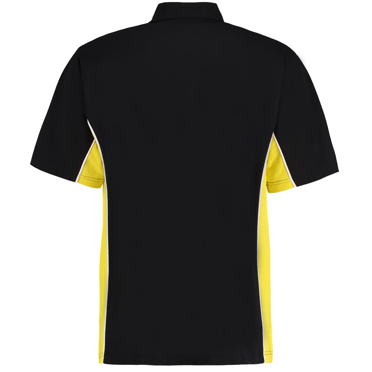 contrast polo black yellow bk