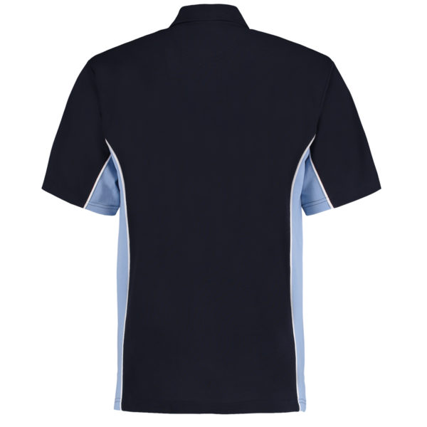 contrast polo navy light blue bk