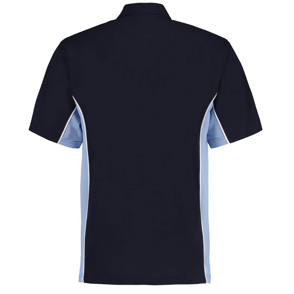 contrast polo navy light blue bk
