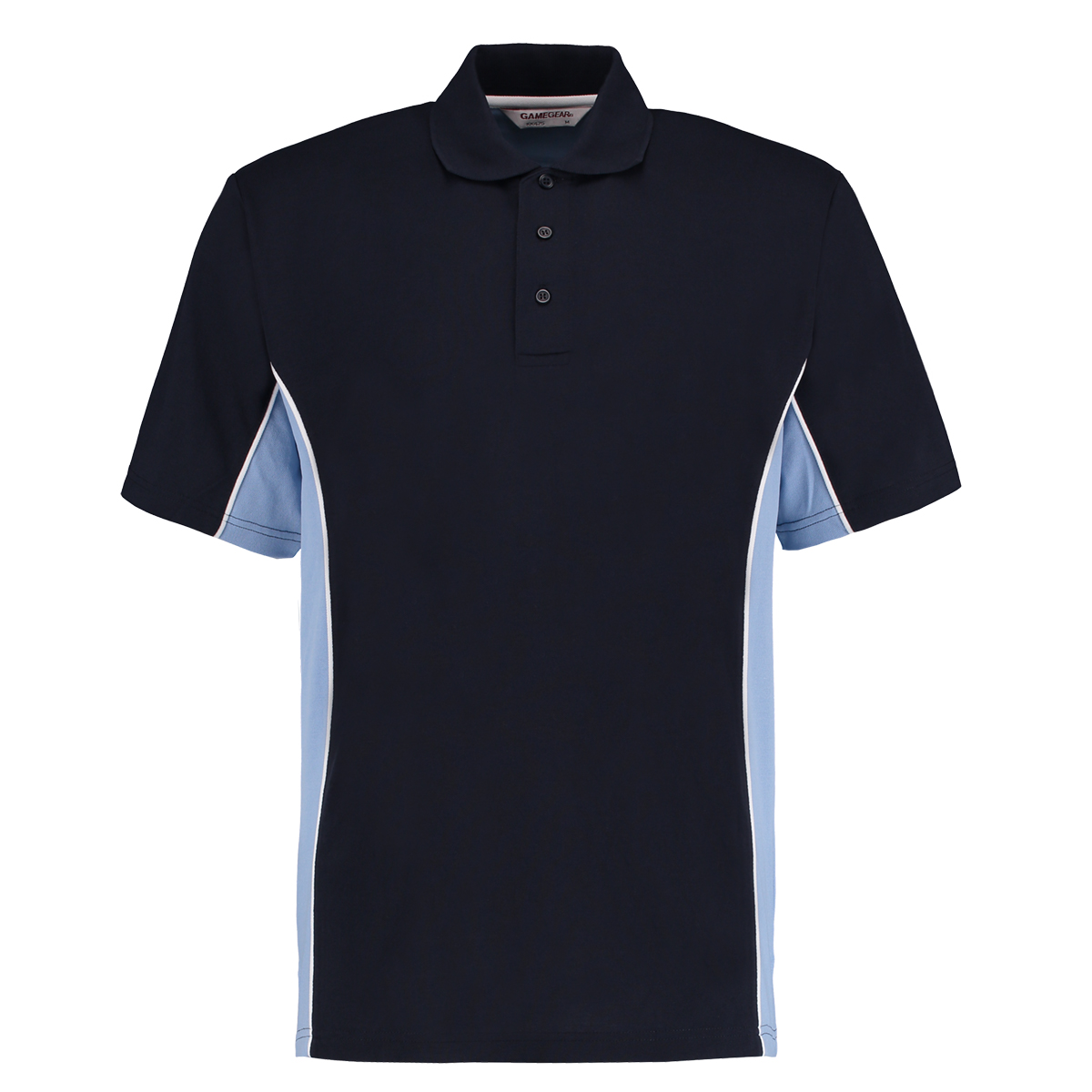 contrast polo navy light blue
