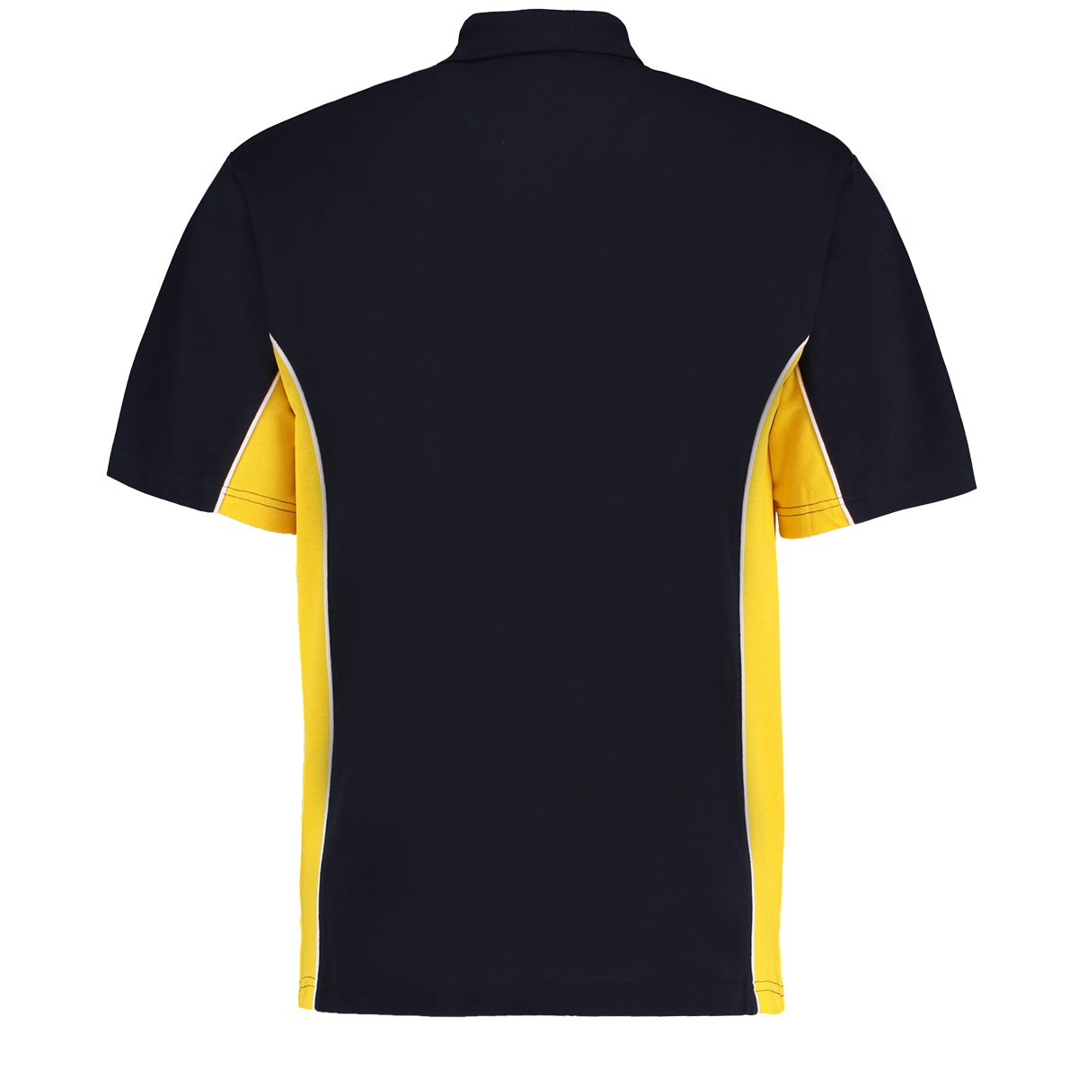 contrast polo navy mid yellow bk