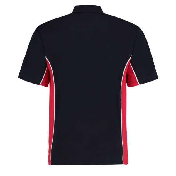 contrast polo navy red bk
