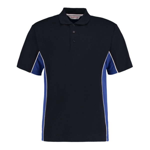 contrast polo navy royal blue
