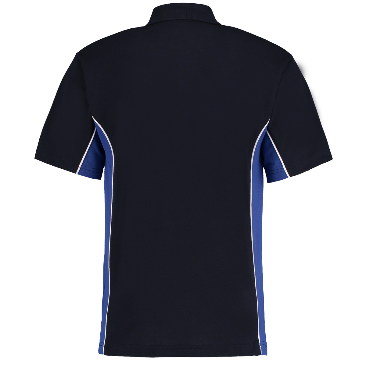 contrast polo navy royal blue bk