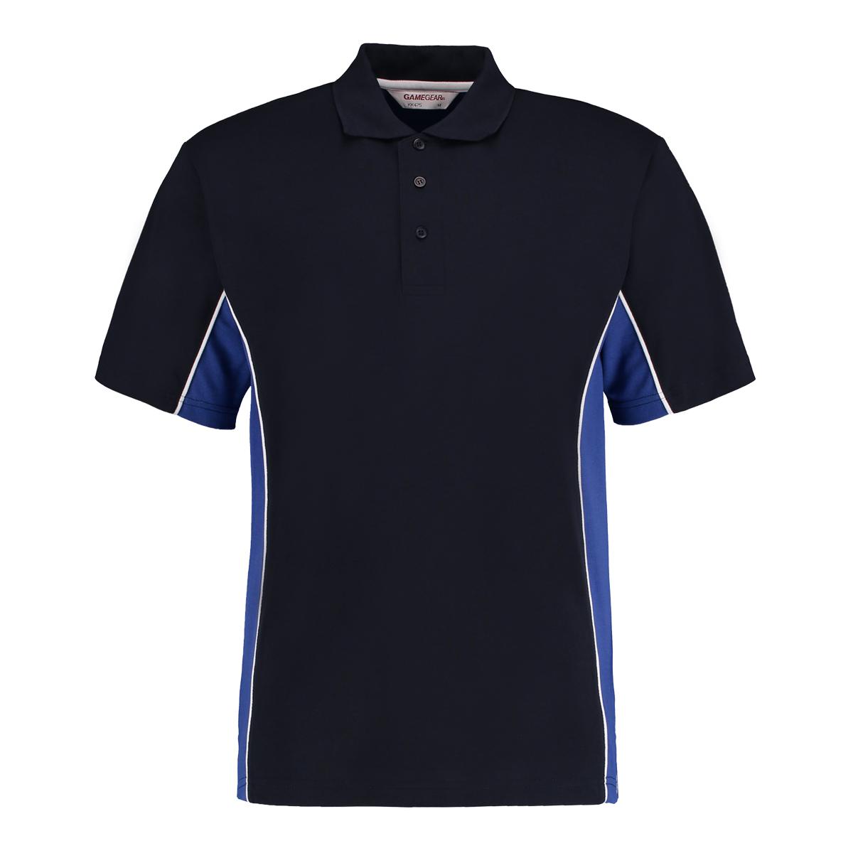 contrast polo navy royal blue