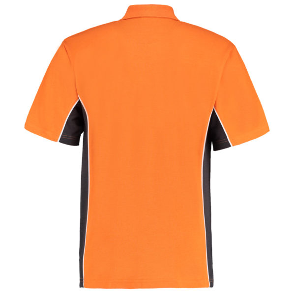contrast polo orange graphite bk