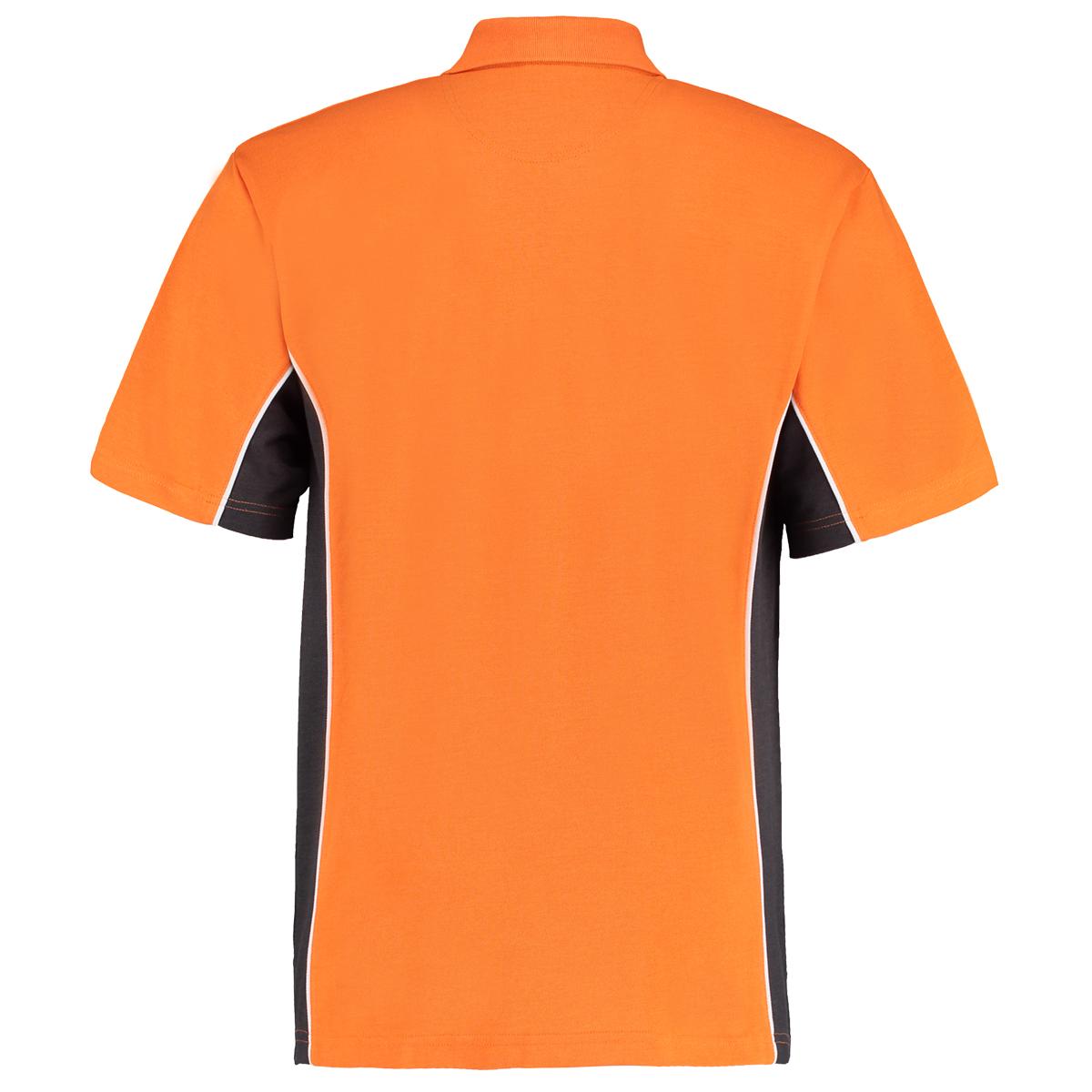contrast polo orange graphite bk