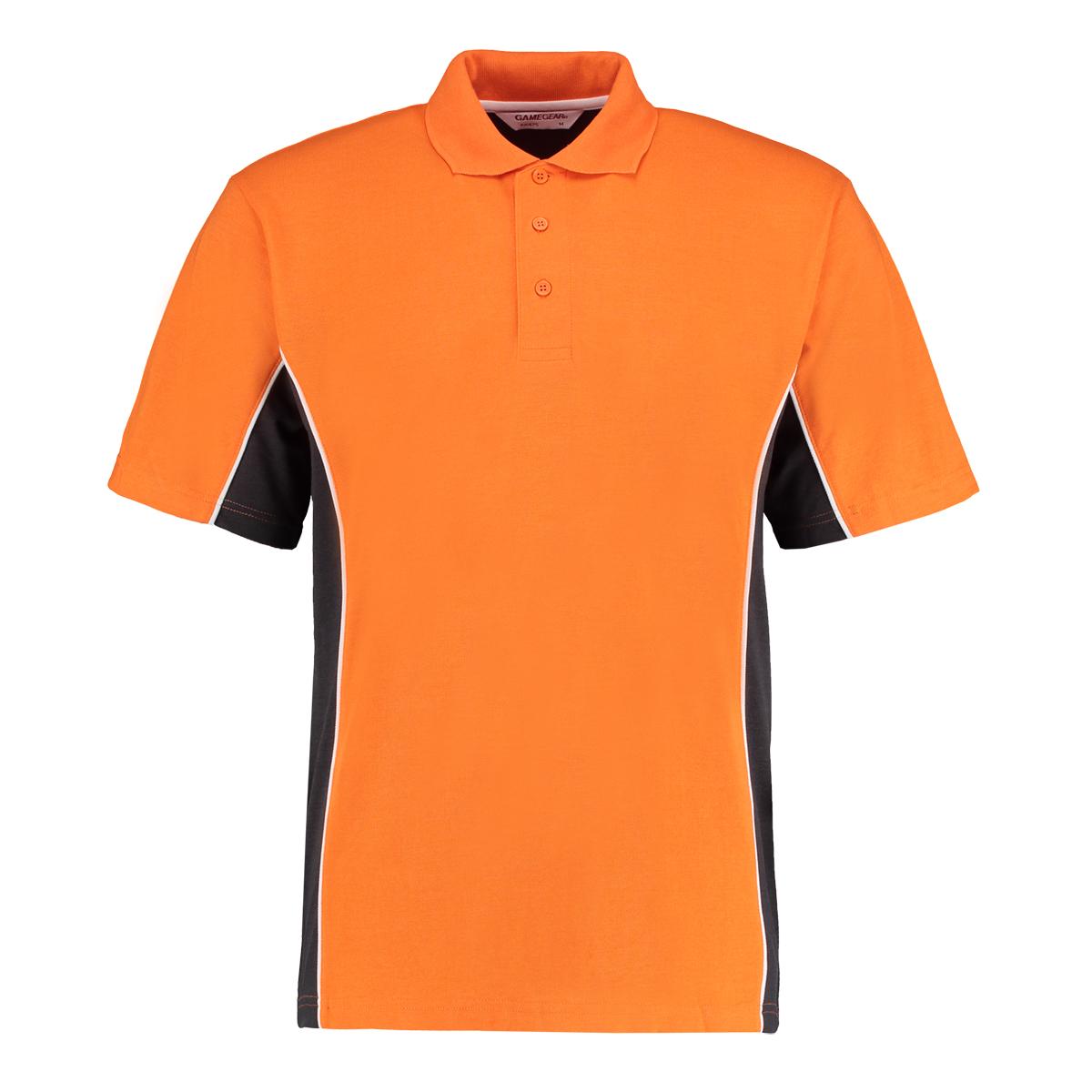 contrast polo orange graphite