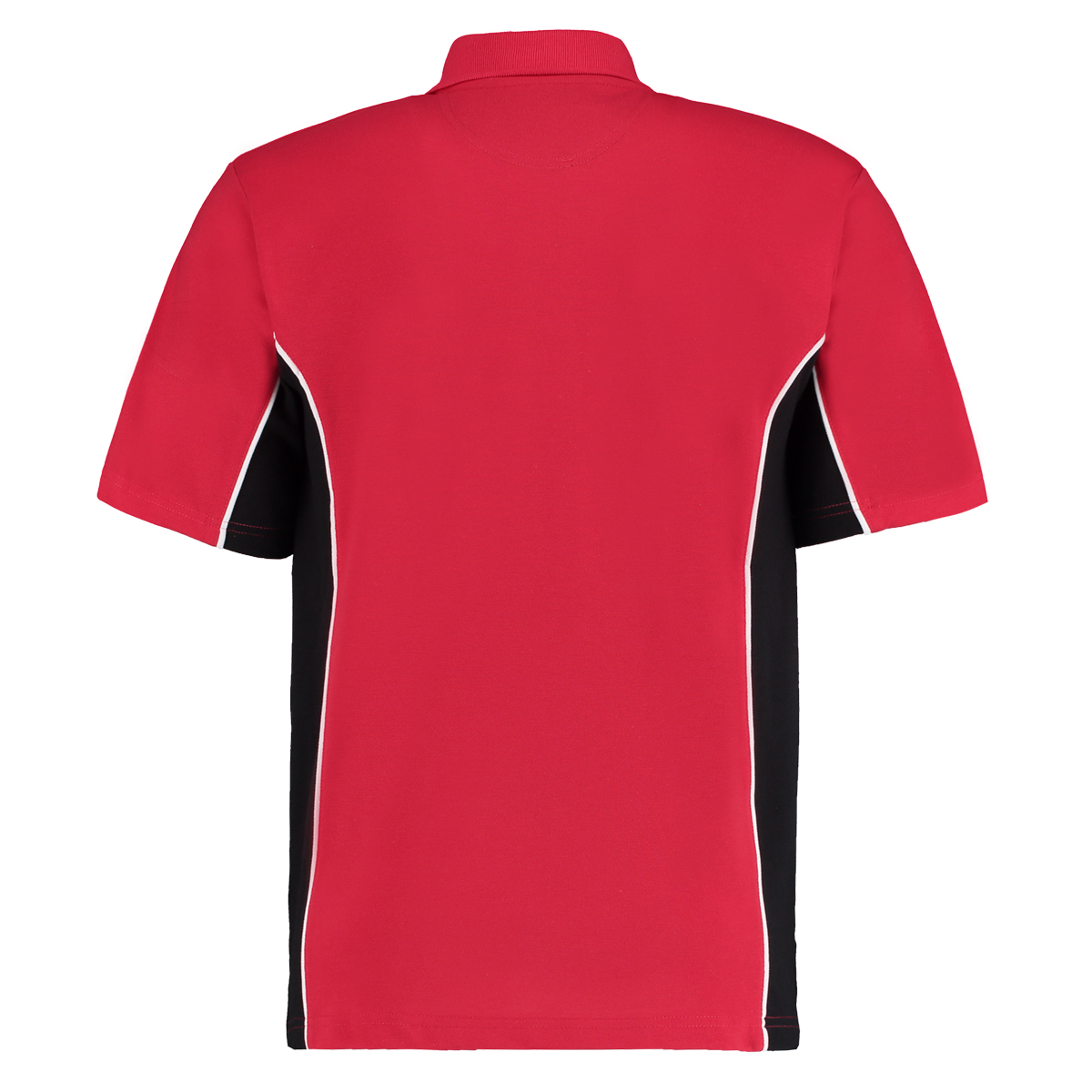 contrast polo red black bk