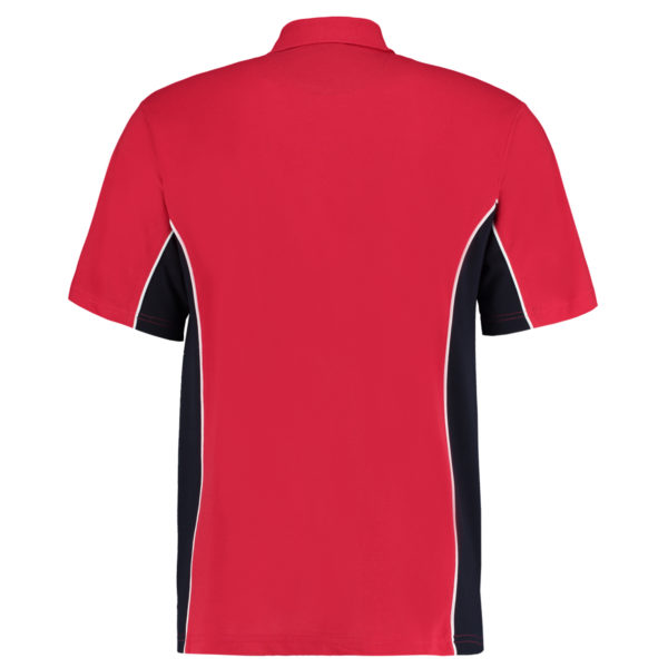 contrast polo red navy bk