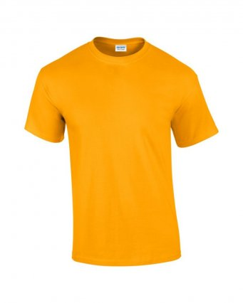 100 cotton gold t shirt