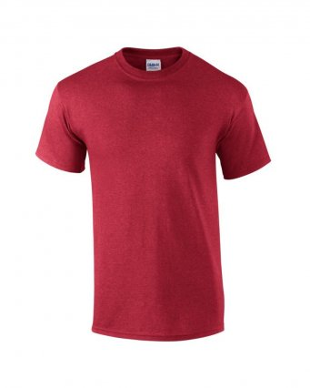 100 cotton heather cardinal t shirt